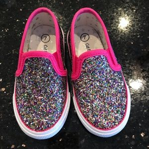Toddler slip on Glitter sneakers